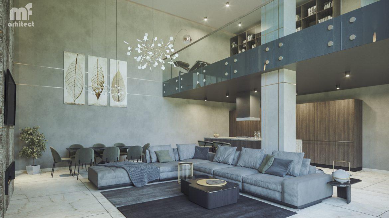 Arhitectura Amenajare Living proiect Design interior lux